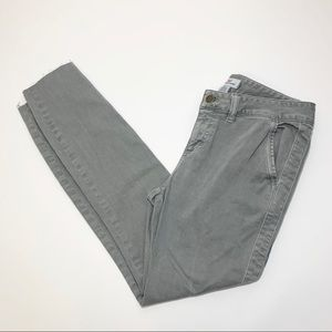 Vineyard Vines Grey Raw Hem Skinny Pants